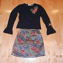 Kc Parker Girls 2 Piece Matching Skirt and Sweater Set Size 7/8 Photo