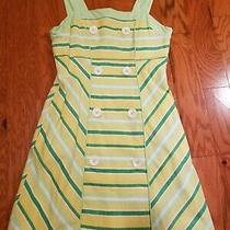Kc Parker Girls Dress Yellow Green White Size 12 Photo