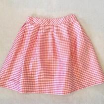 Kc Parker Girls Silk Skirt Pink Check Plaid Sz 16 Photo