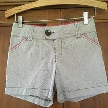 Kc Parker Striped Shorts Size 14 Euc Adjustable Waist Photo
