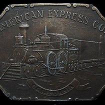Ke13143 Vintage 1970s American Express Co - California Brasstone Belt Buckle Photo