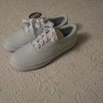 Ked Like  New White Leather Tennis Shoe 6 1/2  Photo