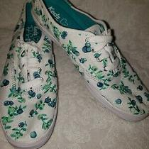 Ked's Taylor Swift Leaf Pattern Green White Womens Comfort Sneakers  Size 8 Photo