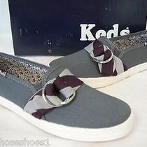 Keds 5 M Stripe Graphite Fashion Sneakers New Womens Shoes Photo