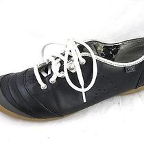 Keds 8m Black Leather Fashion Sneakers Womens Tennis Shoes Oxfords Flats Photo