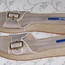 Keds Beige Canvas Flip Flops Gently Worn Size 9 Med Photo