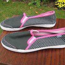 Keds Black White Polka Dot Canvas Slip on Shoes Size 8.5m Photo