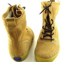 Keds Ch171 Camel Suede Shearling Womens Designer Shoes Short Lace Up Boots 5.5 Photo