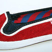 Keds Champion Cable Knit Slip-on Sneakers Slip on Fashion Tennis Flats Shoes 8 Photo