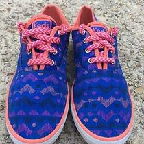 Keds Champion Cvo Prints Indigo Multi Tribal Girls Sneakers Shoes Size 4  Photo