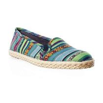 Keds Champion Mini Bracelet Flat Espadrille - Blue Multi 9 Photo