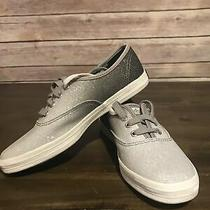 Keds Champion Womens Shoe Sneaker Lace Up Silver Sparkle Size 5 New Photo