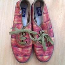 Keds Custom Bacon Print Sneakers Women 6.5 Rare Vans Photo