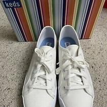 Keds Eagle White Canvas Platform Sneakers Size 8 Photo