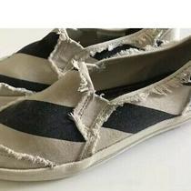 Keds Girls Sz 12.5 Striped Boho  Slip on Sneaker Shoes Super Cute Canvas Photo