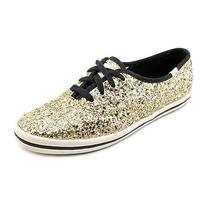 Keds Glitter Womens Size 8 Gold Sneakers Shoes New/display Photo