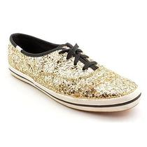 Keds Glitter Womens Size 9.5 Gold Sneakers Shoes Used Uk 7 Photo