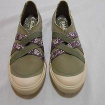 Keds   Gray Canvas With Purple/green Moccasins  7.5 Photo