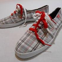 Keds  Gray/white/red Plaid Tennis Shoes   10 Photo