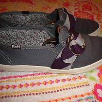 Keds Grey & Plum  Slip on Size 6.5 Mediumgently Wornclean Photo