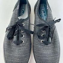 Keds Grey Whit Canvas Sneakers Size 6.5 Photo