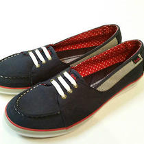Keds Ladies Blue White Red Canvas Shoes Flats Size 9.5 M Photo