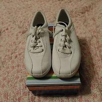 Keds Leather Microstretch White Tennis/ Athletic/sneakers Sz 8 1/2 M Worn 1x Box Photo