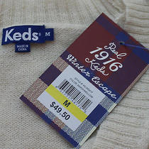 Keds Marshmellow v-Neck Cardigan New With Tags Photo