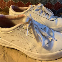 Keds Memory Foam Sneakers Kid Girls Childrens Size 12 White Leather Ritzy 2 Photo
