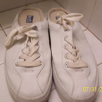 Keds Men's Size 10 White Leather Boat Sneaker Shoe Beach Casual Suede Trim Photo