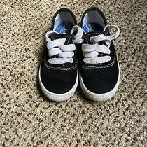 Keds Original Champion Canvas Kids Sneaker Youth Size 7.5- Black Photo
