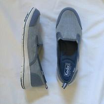 Keds Ortholite Womens Sz 8.5 Light Blue Canvas Cushioned Slip on Casual Sneaker Photo