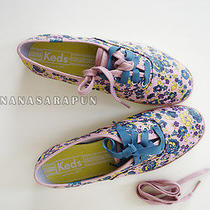 Keds - Pink Blue Two Tone Champion Floral Flower Shoes Sneaker Size U.s 6 Nib Photo