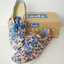 Keds-Pink Blue Two Tone Champion Floral Flower Shoes Sneaker Size 6.5 Nib Photo