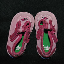 Keds Pink Tennis Shoes Baby Girl Size 2 Pink Watermelon Red Suede Leather Rose Photo