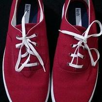 Keds Red and White Womens Sneakers Size 8.5 Photo