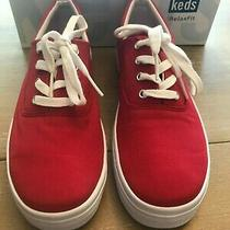 Keds Red Canvas Lace-Up With Relaxfit Shoe Sneaker Size 6.5 Photo