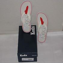 Keds Shoes White / Orange Flippie Shoelace Sandal Flipflop Size 9 M New With Box Photo