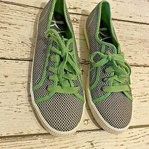 Keds Skimmer Chambray 5 Eyelet Low Top Sneakers Women's Size 9 Green Blue Photo