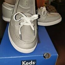 Keds Slip on Boat Shoes Silver Gray New in Box Photo