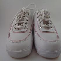 Keds Sports White and Pink Leather Sneakers Girls Size 3.5 M Shoes Nice Photo