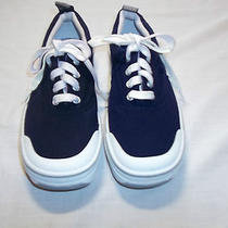 Keds Stretch  Navy Blue With White Trim Canvas Tennis Shoes 5.5 Photo