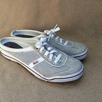 Keds Striped Lace Up Mules Size 8.5 Great Condition Photo