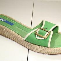 Keds Sz 6 M Green Cotton Summer  Comfort Slides   Sandals Photo