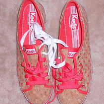 Keds Tan With Orange Dots Athletic Sneakers Size 9.5 M New Photo