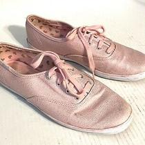 Keds Taylor Swift Pink Metallic Sneakers Tennis Shoes Hearts Womens Size 8.5 Photo