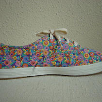 Keds Vintage Bright Color Palette Painted Floral Pattern Sneakers Size 10 M Photo