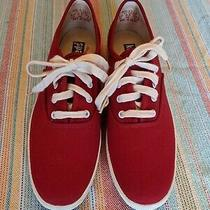 Keds Vintage Red Canvas Oxford Womens Sneakers Wk313s  Sz 8 Photo