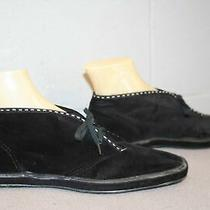 Keds Vtg 1970s 8.5 Nos Black Velour Suede Chukka Pixie Ankle Boot Bootie Shoe Photo