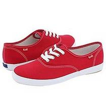 - Keds Wf34300 Champion Canvas Red Womens Sneakers Size 6.5 M Photo